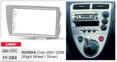 Carav Рамка HONDA Civic 2001-2006 (руль справа) (CARAV 11-384) (фото, вид 1)