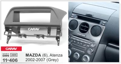 Carav Рамка MAZDA (6), Atenza 2002-2007 (установка вместо бардачка) (CARAV 11-406) (фото, вид 1)
