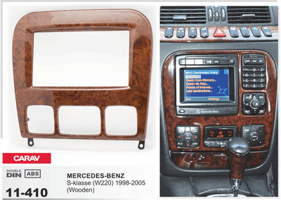 Carav Рамка MERCEDES-BENZ S-klasse (W220) 1998-2005 (CARAV 11-410) (фото, вид 3)