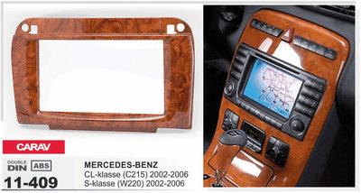 Carav Рамка MERCEDES-BENZ CL-klasse (C215) 2003-2006; S-klasse (W220) 2002-2005 (CARAV 11-409) (фото, вид 3)