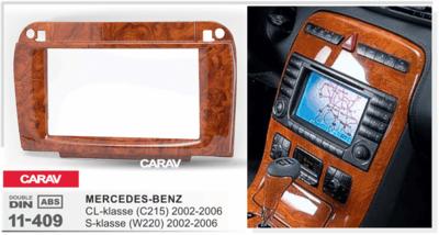 Carav Рамка MERCEDES-BENZ CL-klasse (C215) 2003-2006; S-klasse (W220) 2002-2005 (CARAV 11-409) (фото, вид 4)