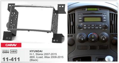 Carav Carav 11-411   2DIN переходная рамка Hyundai H-1, Starex 2007-2015, i800, iMax 2008-2015 (фото, вид 3)