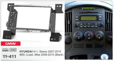 Carav Carav 11-411   2DIN переходная рамка Hyundai H-1, Starex 2007-2015, i800, iMax 2008-2015 (фото, вид 4)