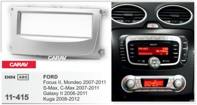 Carav Рамка FORD Focus II, Mondeo, S-Max, C-Max 2007-2011; Galaxy II 2006-2011; Kuga 2008-2012 (CARAV 11-415) (фото, вид 3)