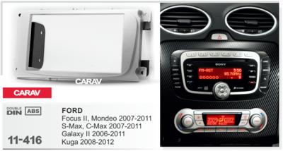 Carav Carav 11-416   2DIN переходная рамка Ford Focus II, Mondeo, S-Max, C-Max 2007-2011, Galaxy II 2006-2011, Kuga 2008-2012 (фото, вид 4)