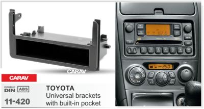 Carav Carav 11-420   1DIN переходная рамка Toyota универсальные боковые вставки со встроенным карманом (фото, вид 3)