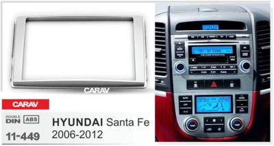 Carav Carav 11-449 | 2DIN переходная рамка Hyundai Santa Fe 2006-2012 (фото, вид 1)
