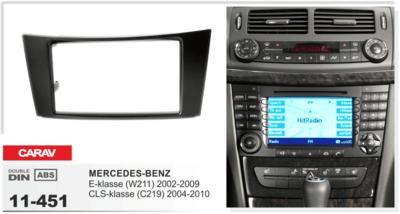 Carav Рамка MERCEDES-BENZ E-klasse (W211) 2002-2009; CLS-klasse (C219) 2004-2010 (CARAV 11-451) (фото, вид 1)