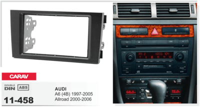 Carav Carav 11-458 | 2DIN переходная рамка Audi A6 (4B) 1997-2004, ALLROAD 2000-2006 (фото, вид 1)
