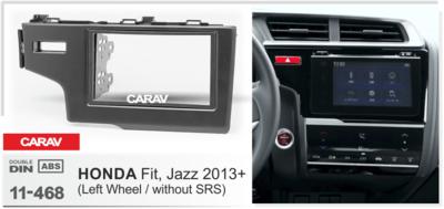 Carav Рамка HONDA Fit, Jazz 2013+ (только для а/м без сигнальной лампы Air-Bag / руль слева) (CARAV 11-468) (фото, вид 2)