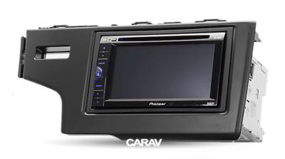 Carav Рамка HONDA Fit, Jazz 2013+ (только для а/м без сигнальной лампы Air-Bag / руль слева) (CARAV 11-468) (фото, вид 3)