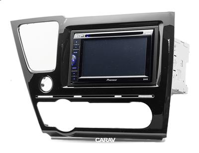 Carav Carav 11-467 | 2DIN переходная рамка Honda Civic 2013-2017 (седан, руль слева, черный глянец) (фото, вид 2)