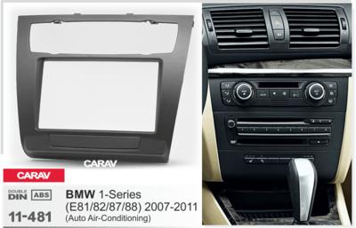 Carav Рамка BMW 1-Series (E81, 82, 87, 88) 2007-2011 (с климат-контролем) (CARAV 11-481) (фото, вид 1)