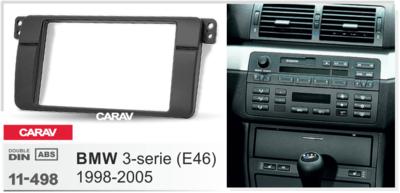 Carav Carav 11-498 | 2DIN переходная рамка BMW 3-Series (E46) 1998-2005 (фото, вид 1)