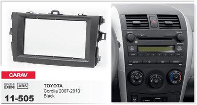 Carav Carav 11-505   2DIN переходная рамка Toyota Corolla 2007-2013 (фото, вид 1)