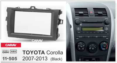 Carav Carav 11-505   2DIN переходная рамка Toyota Corolla 2007-2013 (фото, вид 2)