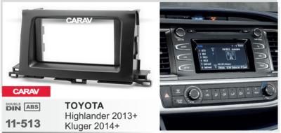 Carav Рамка TOYOTA Highlander 2013+, Kluger 2014+ (CARAV 11-513) (фото, вид 1)