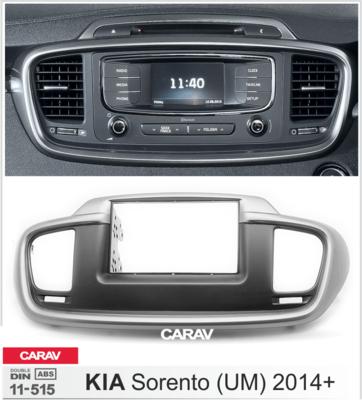 Carav Рамка KIA Sorento (UM) 2014+ (руль слева) (CARAV 11-515) (фото, вид 2)