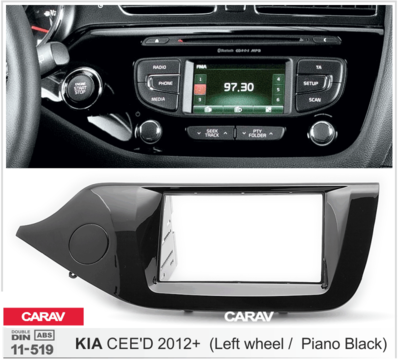 Carav Рамка KIA CEE'D 2012+ (руль слева) (CARAV 11-519) (фото, вид 2)