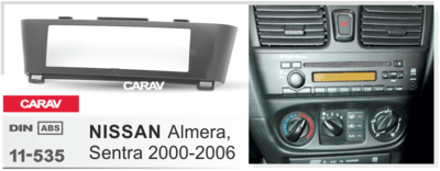 Carav Carav 11-535   1DIN переходная рамка Nissan Almera, Sentra 2000-2006 (фото, вид 1)