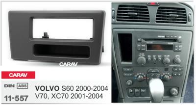 Carav Рамка VOLVO S60 2000-2004; V70, XC70 2001-2004 (с карманом) (CARAV 11-557) (фото, вид 2)
