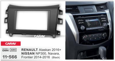 Carav Рамка NISSAN NP300, Navara, Frontier 2014-16 / RENAULT Alaskan 2016+ (CARAV 11-566) (фото, вид 2)