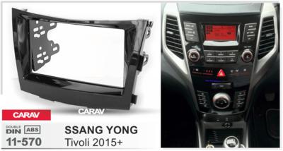 Carav Рамка SSANG YONG Tivoli 2015+ (CARAV 11-570) (фото, вид 2)