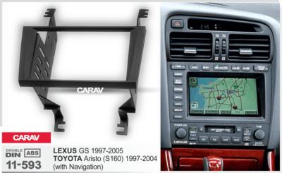 Carav Рамка TOYOTA Aristo (S160) 1997-2004 / LEXUS GS 1997-2005 (только для а/м с навигации) (CARAV 11-593) (фото, вид 4)
