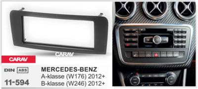 Carav Рамка MERCEDES-BENZ A-klasse (W176) 2012+, В-klasse (W246) 2012+; GLA-klasse (X156) 2014+ (CARAV 11-594) (фото, вид 2)
