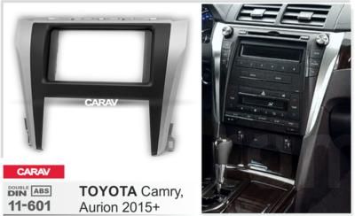 Carav Carav 11-601 | 2DIN переходная рамка Toyota Camry, Aurion 2015+ (фото, вид 3)