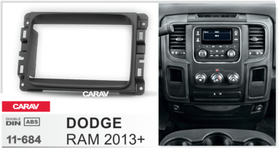 Carav Рамка DODGE RAM 2013+ (CARAV 11-684) (фото, вид 2)