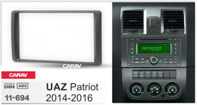 Carav Carav 11-694   2DIN переходная рамка UAZ Patriot 2014+ (фото, вид 2)