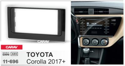 Carav Рамка TOYOTA Corolla 2017+ (CARAV 11-696) (фото, вид 1)