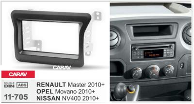 Carav Рамка RENAULT Master 2010+ / OPEL Movano 2010+ / NISSAN NV400 2010+ (CARAV 11-705) (фото, вид 2)