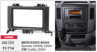 Carav Carav 11-714   2DIN переходная рамка Volkswagen Crafter 2006+, Mercedes-Benz Sprinter (W906) 2006+ (фото, вид 2)