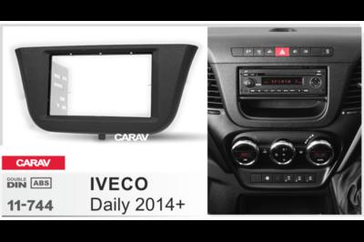 Carav Carav 11-744 | 2DIN переходная рамка Iveco Daily 2014+ (фото, вид 1)