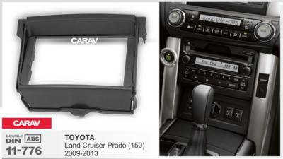 Carav Рамка TOYOTA Land Cruiser Prado (150) 2009-2013 (установка вместо нижнего бардачка) (CARAV 11-776) (фото, вид 1)