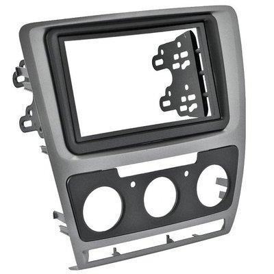 Incar (Intro) Рамка Skoda Octavia (A5) 04-13 (Manual AC) 2din SILVER (КОМПЛЕКТ) Incar RSC-N07 (фото, вид 1)