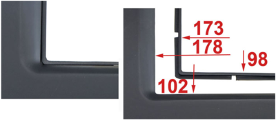Incar (Intro) Incar 95-7953A | 2DIN переходная рамка Suzuki Grand Vitara 2005-2015 (фото, вид 2)