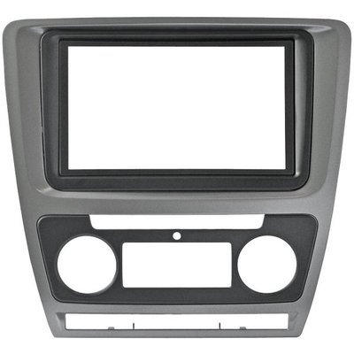 Incar (Intro) Рамка Skoda Octavia (A5) 04-13 (Auto AC) 2din SILVER (КОМПЛЕКТ) Incar RSC-N06 (фото, вид 1)