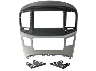 Incar (Intro) Переходная рамка Hyundai H1 Starex 16+ Silver 2DIN (Intro RHY-N47) (фото, вид 1)