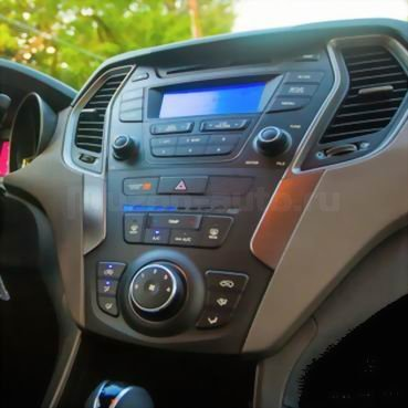 Incar (Intro) Переходная рамка Hyundai Santa Fe III 2012+ 2din (крепеж) Incar RHY-N41 (фото, вид 1)