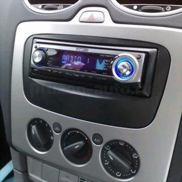 Incar (Intro) Переходная рамка Ford Focus 2 sony, S-Max 07+, Mondeo 07+, Galaxy new 1DIN black (Incar RFO-N11) (фото, вид 1)