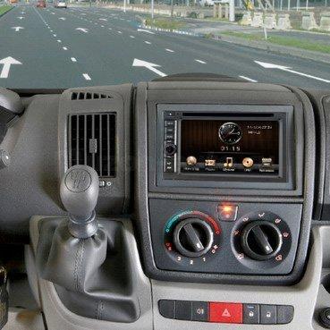 Incar (Intro) Переходная рамка Citroen Jumper 07+, Fiat Ducato 07+, Peugeot Boxer 06+ 2/1DIN Intro RFR-N14 (фото, вид 1)