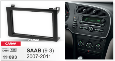 Carav Carav 11-093   2DIN переходная рамка Saab (9.3) 2007-2011 (фото, вид 1)