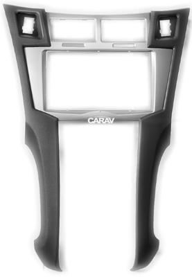Carav Carav 11-100   2DIN переходная рамка Toyota Yaris, Vitz, Platz 2005-2010 (серебро) (фото, вид 9)