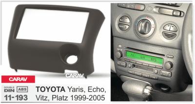 Carav Carav 11-193 | 2DIN переходная рамка Toyota Yaris, Echo, 1999-2005 (руль слева) (фото, вид 2)