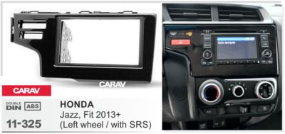 Carav Рамка HONDA Fit, Jazz 2013+ (только для а/м с сигнальной лампы Air-Bag / руль слева) (CARAV 11-325) (фото, вид 1)