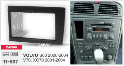 Carav Carav 11-587 | 2DIN переходная рамка Volvo S60 2000-2004, V70, XC70 2001-2004 (фото, вид 3)