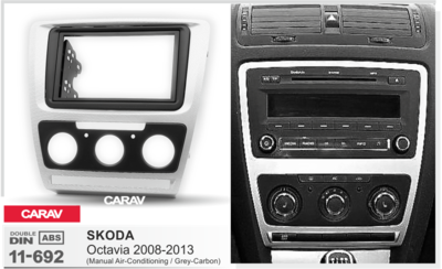 Carav Рамка SKODA Octavia 2008-2013 (без климат-контроля) (CARAV 11-692) (фото, вид 2)